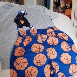 Gymboree t shirt and short set
